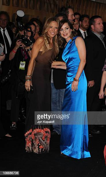 Sheryl Crow and Kimberly Williams Paisley attend the 44th Annual CMA Awards at the Bridgestone Arena on November 10 2010 in Nashville Tennessee