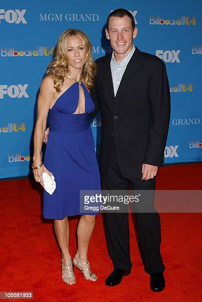 Sheryl Crow and Lance Armstrong during 2004 Billboard Music Awards Arrivals at MGM Grand Garden in Las Vegas Nevada United States