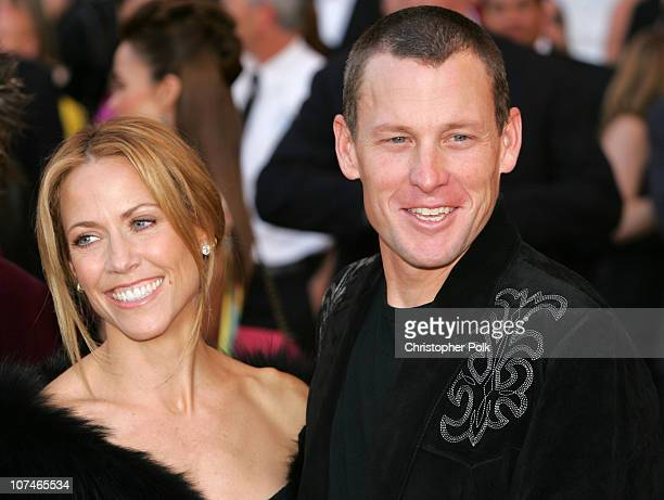 Sheryl Crow and Lance Armstrong during 33rd Annual American Music Awards - Arrivals at Shrine Auditorium in Los Angeles, California, United States.