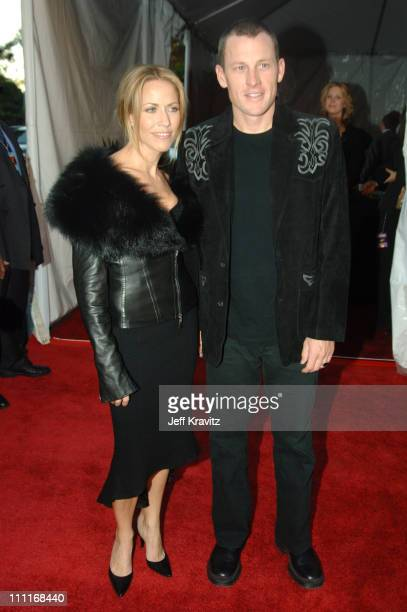Sheryl Crow and Lance Armstrong during 33rd Annual American Music Awards Red Carpet at Shrine Auditorium in Los Angeles California United States