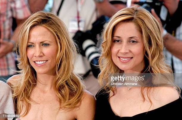Sheryl Crow and Lara Fabian during 2004 Cannes Film Festival De Lovely Photocall in Cannes France