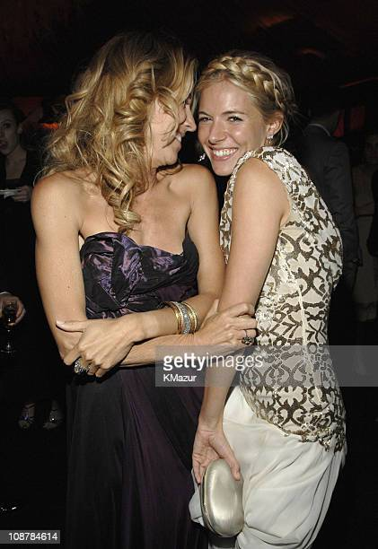 Sheryl Crow and Sienna Miller during In Style and Warner Bros. 2007 Golden Globe After Party - Inside at Beverly Hilton Hotel in Beverly Hills,...