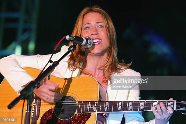 "Sheryl Crow at ""One World, One Child Benefit Concert"" for the Children's Health Environmental Coalition honoring Meryl Streep, Nell Newman and Dr...."