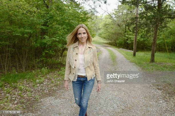 Sheryl Crow attends a special day revealing Sheryl Crow Johnny Cash's new song Redemption Day at Cash Cabin Recording Studio on April 17 2019 in...