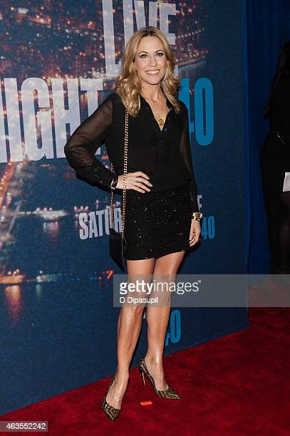 Sheryl Crow attends the SNL 40th Anniversary Celebration at Rockefeller Plaza on February 15 2015 in New York City