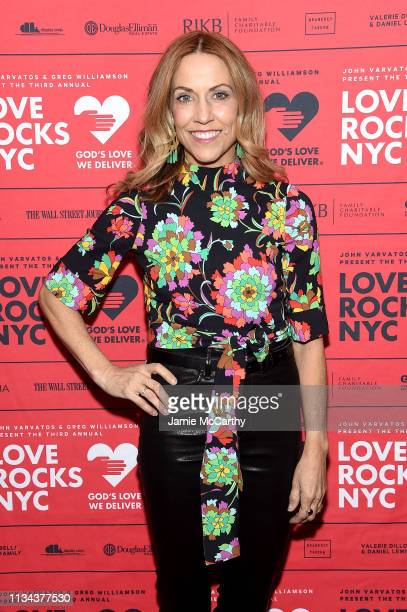 Sheryl Crow attends the Third Annual Love Rocks NYC Benefit Concert for God's Love We Deliver on March 07 2019 in New York City