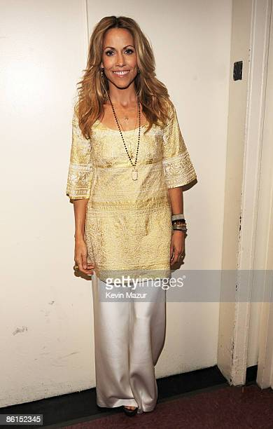 """Sheryl Crow backstage for the David Lynch Foundation """"Change Begins Within"""" concert at Radio City Music Hall on April 4, 2009 in New York City."""
