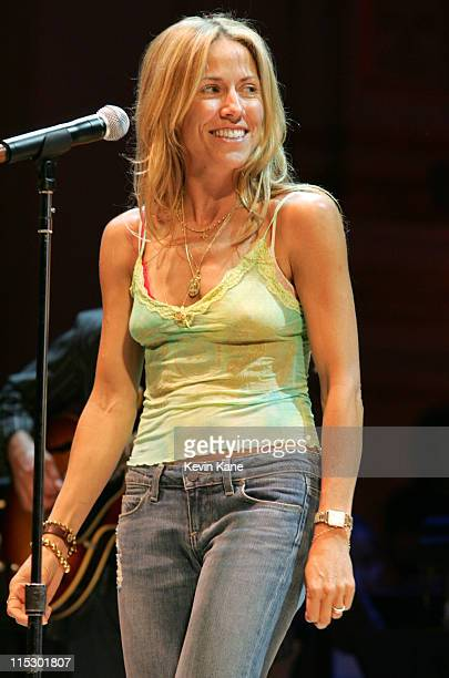 Sheryl Crow during 2006 Rainforest Foundation Fund Benefit Concert Rehearsals at Carnegie Hall in New York City New York United States