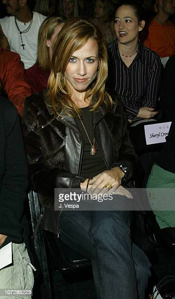 Sheryl Crow during MercedesBenz Shows LA Fashion Week Spring 2004 Richard Tyler Backstage and Front Row at The Standard Downtown LA in Los Angeles...