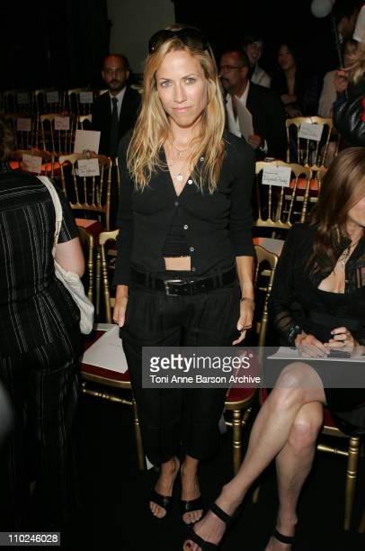 Sheryl Crow during Paris Haute Couture Fashion Week Fall/Winter 2005 Valentino Front Row at Theatre National de Chaillot in Paris France