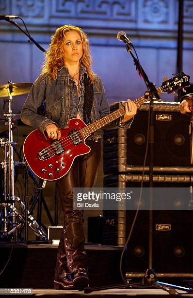 Sheryl Crow during Sheryl Crow Performing a Macy's Fourth of July Promo at Public Library in New York City New York United States