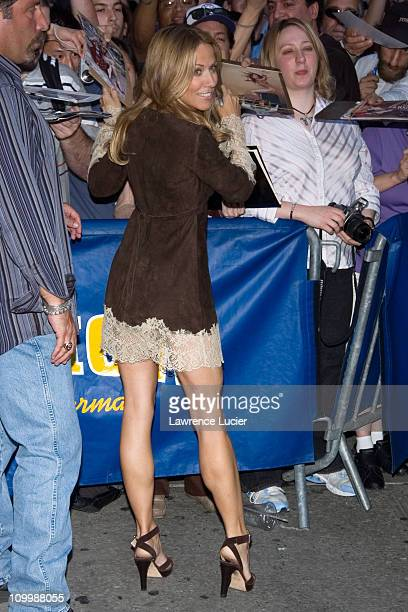Sheryl Crow during Teri Hatcher and Sheryl Crow Appear Outside The Late Show with David Letterman September 22 2005 at Ed Sullivan Theatre in New...