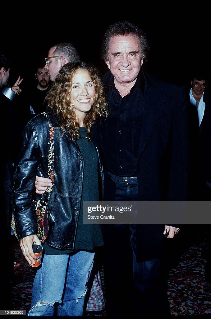 Sheryl Crow & Johnny Cash during Johnny Cash Concert Arrivals at The Pantages Theatre in Los Angeles, California, United States.