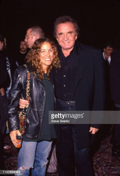 Sheryl Crow Johnny Cash during Johnny Cash Concert Arrivals at The Pantages Theatre in Los Angeles California United States n
