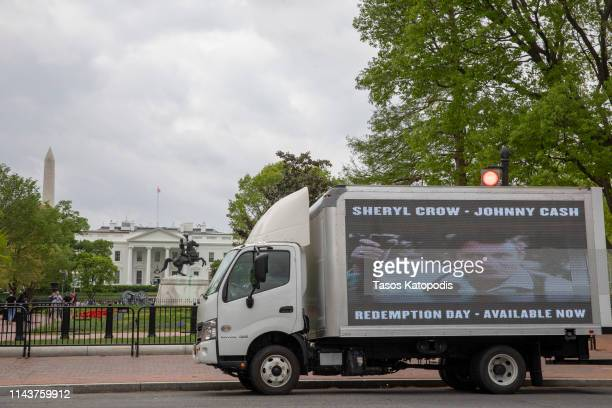 Sheryl Crow Johnny Cash's 'Redemption Day' Video Premieres in front of the White House on April 19 2019 in Washington DC