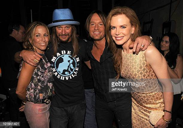 Sheryl Crow Kid Rock Keith Urban and Nicole Kidman attend the 2010 CMT Music Awards at the Bridgestone Arena on June 9 2010 in Nashville Tennessee