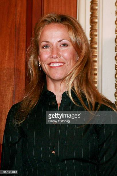 Sheryl Crow listens to speakers at the National Breast Cancer Coalition press conference at The Capitol on March 28 2007 in Washington DC