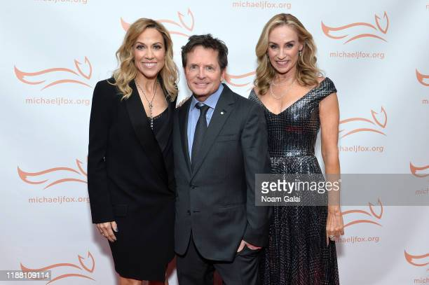 Sheryl Crow Michael J Fox and Tracy Pollan attend A Funny Thing Happened On The Way To Cure Parkinson's benefitting The Michael J Fox Foundation on...