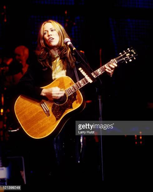 Sheryl Crow performing at the Air Force Academy in Colorado Springs Colorado on January 1 1995
