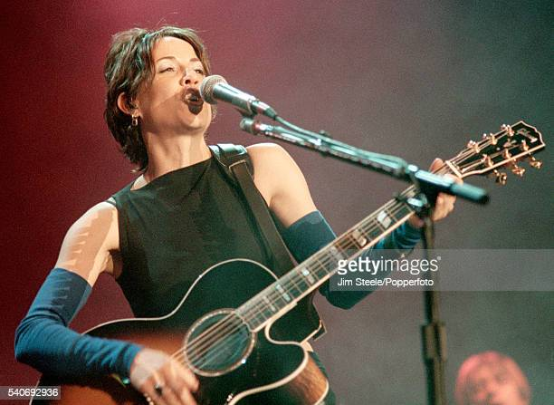 Sheryl Crow performing on stage at Wembley Arena in London on the 18th February 1999
