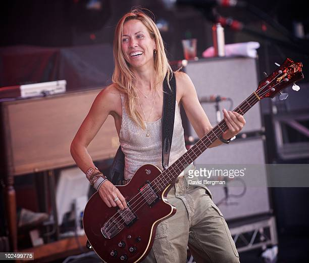 Sheryl Crow performs at the 2010 Lilith Fair at McMahon Stadium on June 27, 2010 in Calgary, Canada.