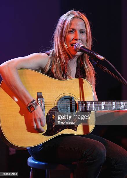 Sheryl Crow performs at the MERCEDESBENZ 'House of BlueTEC' Launch Party with Performance by SHERYL CROW at Splashlight Studios on March 18 2008 in...