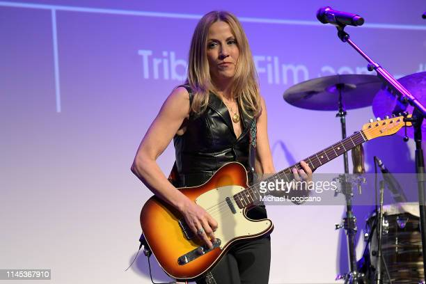 Sheryl Crow performs following the premiere of Linda Ronstadt The Sound Of My Voice during the 2019 Tribeca Film Festival at BMCC Tribeca PAC on...