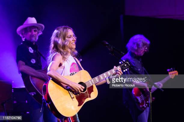 Sheryl Crow performs on stage at Glasgow Royal Concert Hall on June 26, 2019 in Glasgow, Scotland.