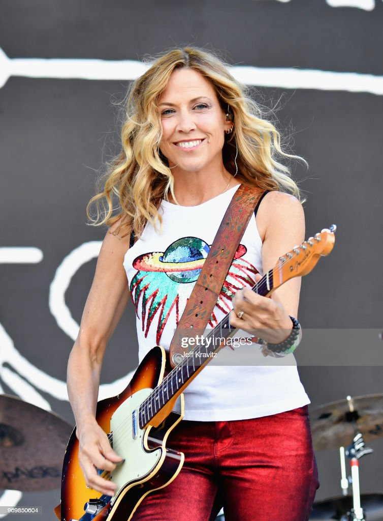 Sheryl Crow performs on What Stage during day 2 of the 2018 Bonnaroo Arts And Music Festival on June 8, 2018 in Manchester, Tennessee.
