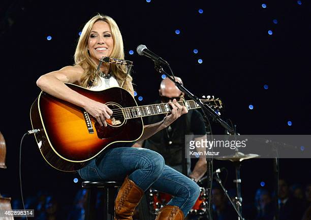 Sheryl Crow performs onstage at the 25th anniversary MusiCares 2015 Person Of The Year Gala honoring Bob Dylan at the Los Angeles Convention Center...
