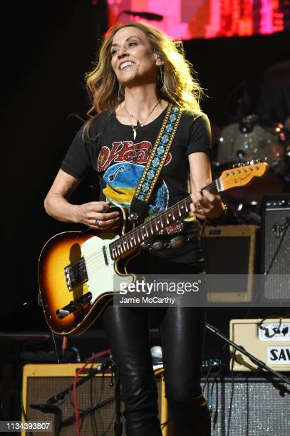 Sheryl Crow performs onstage during the Third Annual Love Rocks NYC Benefit Concert for God's Love We Deliver on March 07 2019 in New York City