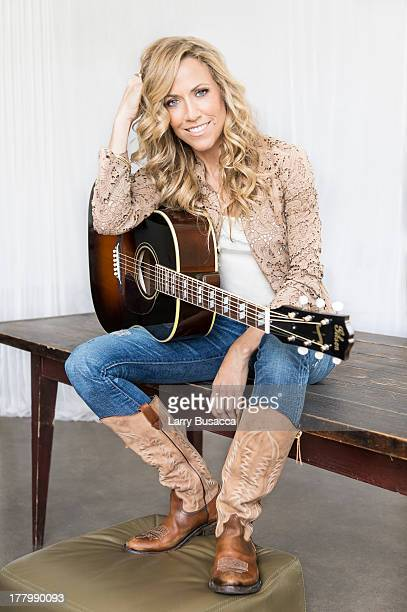 Sheryl Crow portrait studio session at Splashlight Studios on August 23 2013 in New York City Her new album 'Feels Like Home' releases on September...