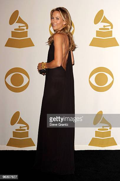 Sheryl Crow poses in the press room at the 52nd Annual GRAMMY Awards held at Staples Center on January 31 2010 in Los Angeles California