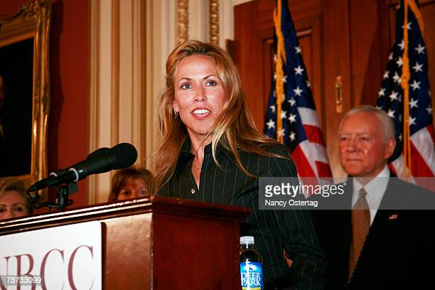 Sheryl Crow speaks at the National Breast Cancer Coalition press conference at The Capitol on March 28 2007 in Washington DC