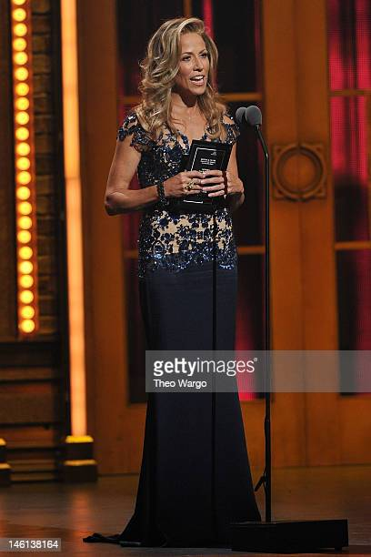Sheryl Crow speaks onstage at the 66th Annual Tony Awards at The Beacon Theatre on June 10 2012 in New York City