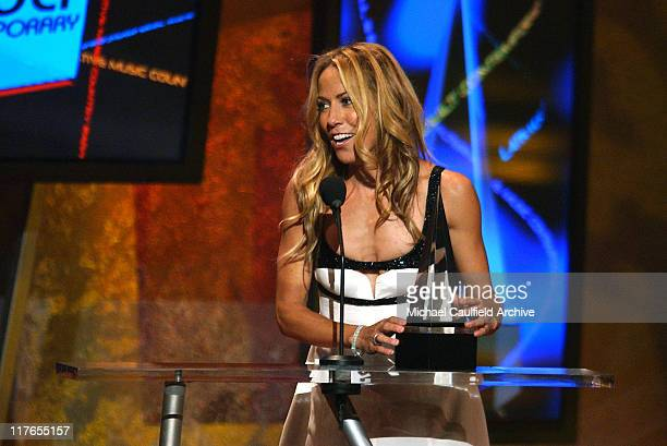 Sheryl Crow winner for Adult Contemporary Award during 32nd Annual American Music Awards Show at Shrine Auditorium in Los Angeles California United...