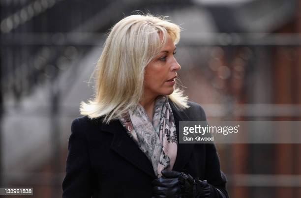 Sheryl Gascoigne exwife of former footballer Paul Gascoigne arrives to give evidence to The Leveson Inquiry at The Royal Courts of Justice on...