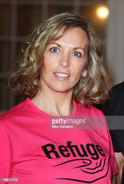 Sheryl Gascoigne helps to promote upcoming charity gala of Dirty Dancing in aid of domestic violence charity, Refuge. At the Aldwych Theatre, London...