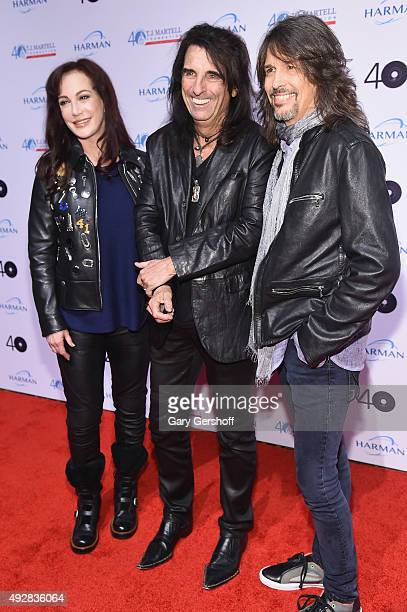 Sheryl Goddard Alice Cooper and Foreigner lead singer Kelly Hansen attend the TJ Martell 40th Anniversary NY Gala at Cipriani Wall Street on October...