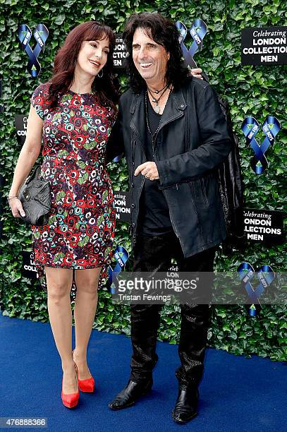 Sheryl Goddard and Alice Cooper attend One For The Boys Fashion Ball hosted by Samuel L Jackson uniting men against cancer to kick start London...