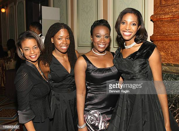 Sheryl Huggins Salomon Alexis Garrett Stodghill JoyAnn Reid and Keli Goff attend the Inaugural Ball hosted by BET Networks at Smithsonian American...