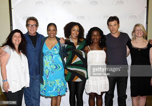Sheryl Kaller Larry Pine Adriane Lenox De'Adre Aziza Uzo Aduba Adam Rothenberg and Tracey Thorne attend the We Are Here cast photo call at the Second...