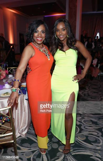 Sheryl Lee Ralph and Antoinette Robertson attend the 2019 Essence Black Women in Hollywood Awards Luncheon at Regent Beverly Wilshire Hotel on...
