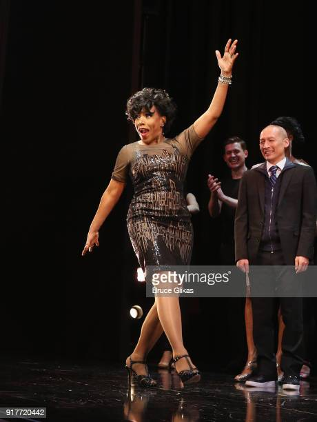 Sheryl Lee Ralph takes the curtain call at the 'Thoroughly Modern Millie' 15th Anniversary Reunion Concert at The Minskoff Theater on February 12...
