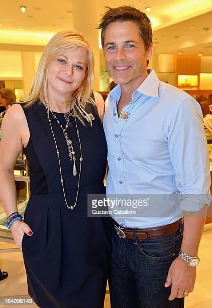 Sheryl Lowe and Rob Lowe attend the Sheryl Lowe Jewelry Design event at Neiman Marcus on March 19 2013 in Coral Gables Florida