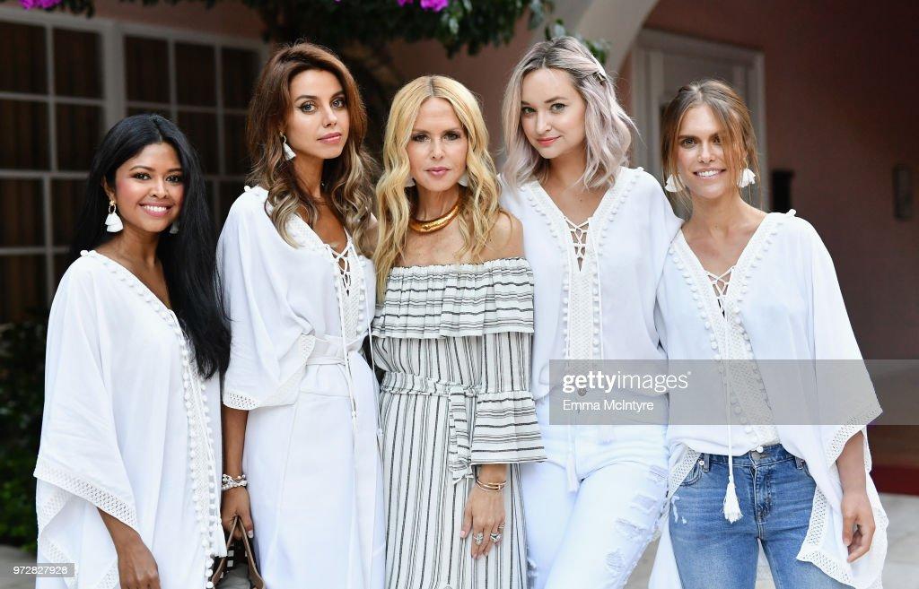 Sheryl Luke, Annabelle Fleur, Rachel Zoe, Liz Cherkasova and Lauren Scruggs Kennedy attend Summer '18 Box of Style by Rachel Zoe Soiree at Hotel Bel Air on June 12, 2018 in Los Angeles, California.
