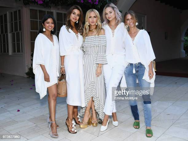 Sheryl Luke Annabelle Fleur Rachel Zoe Liz Cherkasova and Lauren Scruggs Kennedy attend Summer '18 Box of Style by Rachel Zoe Soiree at Hotel Bel Air...
