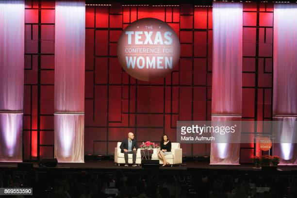 Sheryl Sandberg and Adam Grant speak at the Texas Conference For Women 2017 at Austin Convention Center on November 2 2017 in Austin Texas