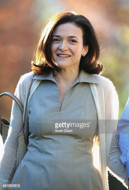 Sheryl Sandberg chief operating officer of Facebook attends the Allen Company Sun Valley Conference on July 9 2014 in Sun Valley Idaho Many of the...