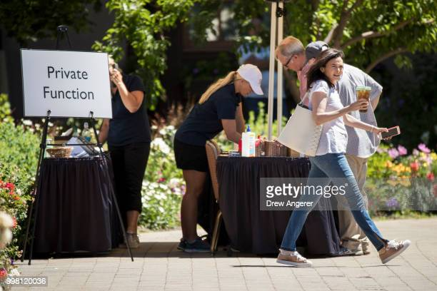 Sheryl Sandberg chief operating officer of Facebook attends the annual Allen Company Sun Valley Conference July 13 2018 in Sun Valley Idaho Every...